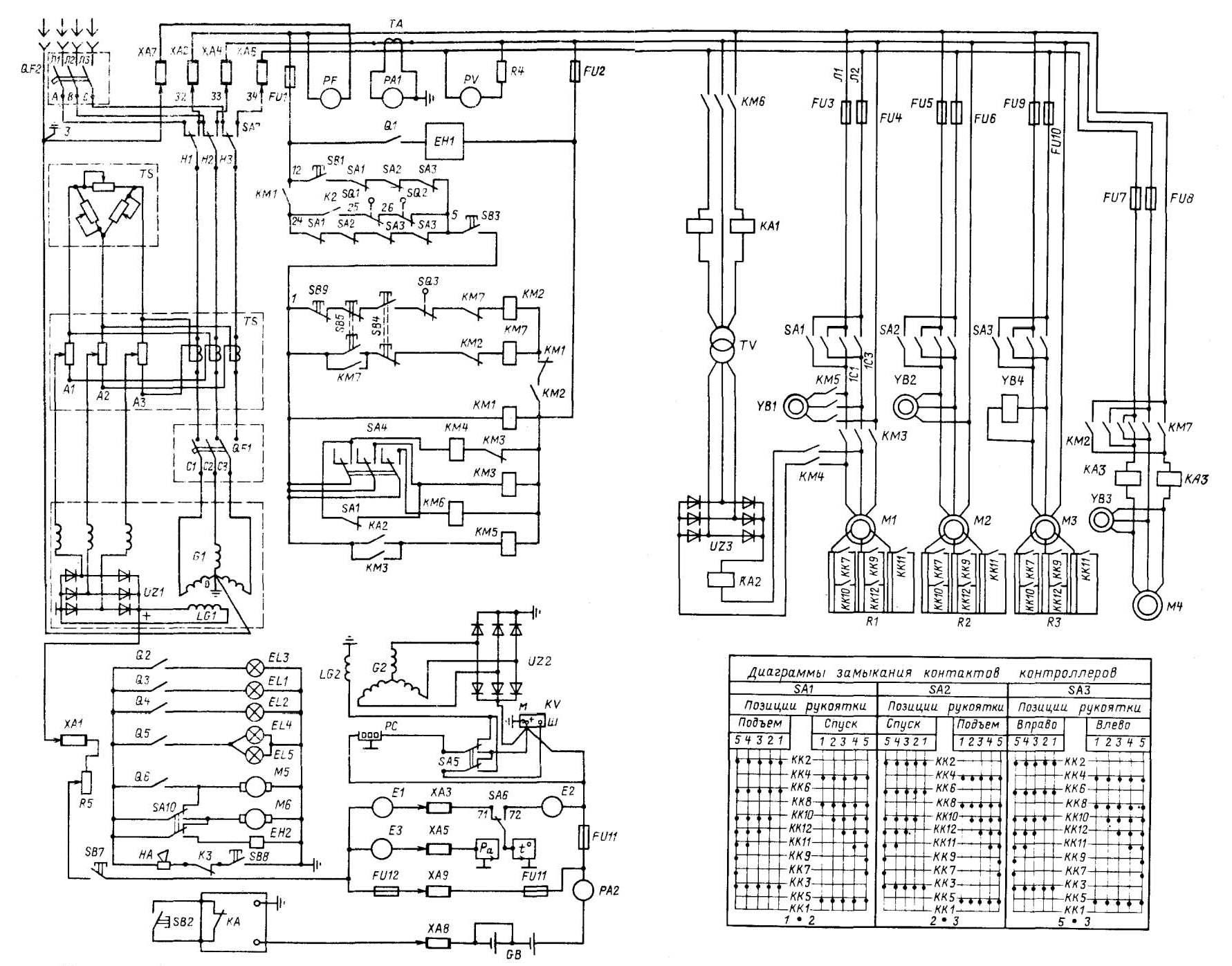электрооборудование кранов Автокран КС К Схема  Поиск